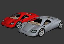 概念车,概念跑车3D模型