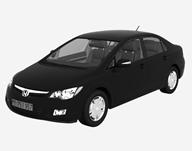 本田civic汽车3D模型