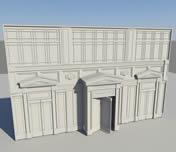 大楼门口3D模型