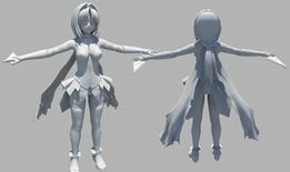 卡通少女maya模型