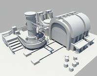 机站,基地,基站maya模型