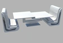 茶桌,茶几,沙发椅,玻璃桌3d模型