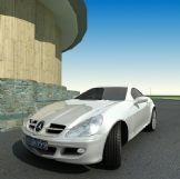 精致奔驰SLK200汽车3D模型