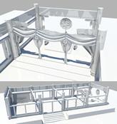 春秋时期皇宫,宫殿maya模型