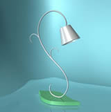 很简单的台灯maya模型