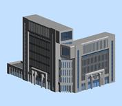 公安局,3D建筑模型