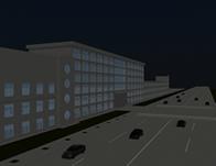 建筑楼,道路,3D场景模型