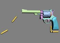 手枪,左轮手枪3D模型