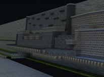 叠水墙,园艺建筑3D模型