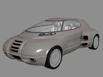 精品概念车3D模型