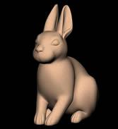 兔子,石兔雕塑3D模型