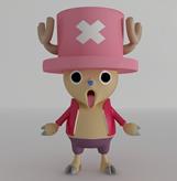 海贼王乔巴,卡通动漫角色3D模型