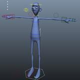 做绑定练习的小人maya模型