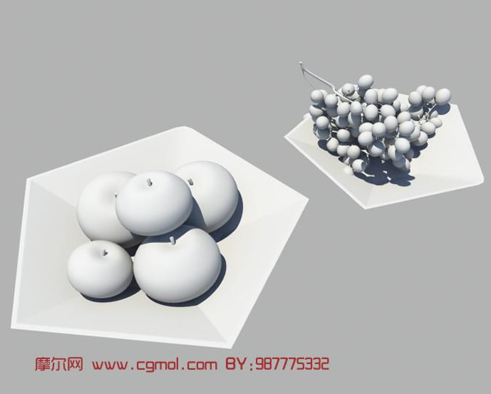苹果,葡萄3d模型