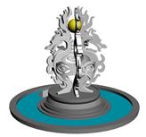 五龙雕塑,喷泉3D模型