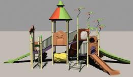 滑梯,儿童娱乐设施3D模型
