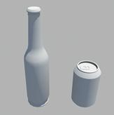 酒瓶,易拉罐3d模型
