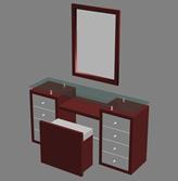 梳妆台,化妆台,家具3D模型