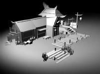 古代房屋,场景建筑3D模型