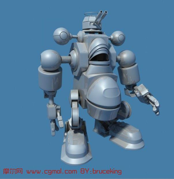 机器人3d模型,机械角色