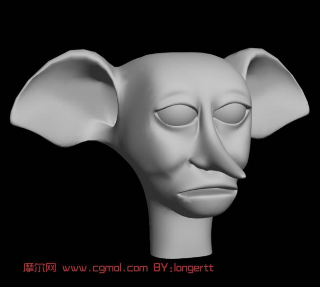 多比,哈利波特小精灵3d模型