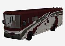 露营车,旅游车,长途车,汽车3D模型