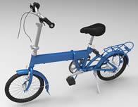 折叠式自行车3D模型,还有3dm格式