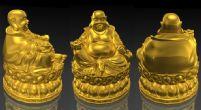 金光灿烂的弥勒佛尊像maya模型