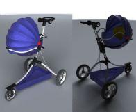 婴儿车,手推车maya模型