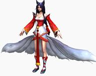 LOL英雄联盟九尾妖狐3D模型