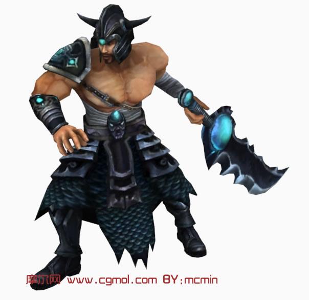LOL英雄联盟,蛮族之王Tryndamere,泰达米尔3D模型 其他角色 游戏
