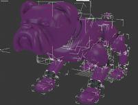 3d小狗精细模型