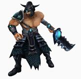 LOL英雄联盟,蛮族之王Tryndamere,泰达米尔3D模型