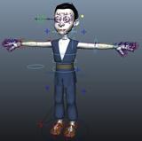 绑定练习的卡通人物3D模型