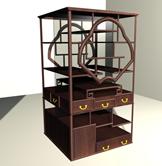 博古架,木架,古典家具maya3D模型