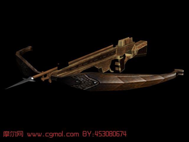诸葛弩,冷兵器3d模型
