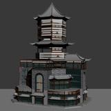 昌南阁,古建亭子,古代凉亭3D模型