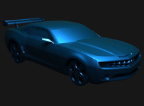 雪弗兰跑车3D模型