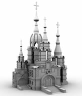 城堡,教堂,俄罗斯建筑3D模型