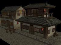 古代客栈,酒楼,酒店3D模型