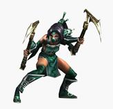 LOL英雄�盟暗影之拳akali,阿卡��3D模型