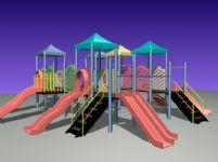 儿童滑梯,儿童娱乐设施3D模型
