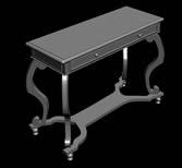 仿古木桌,古典家具3D模型