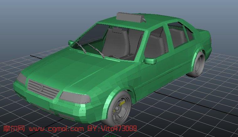 出租车3D模型
