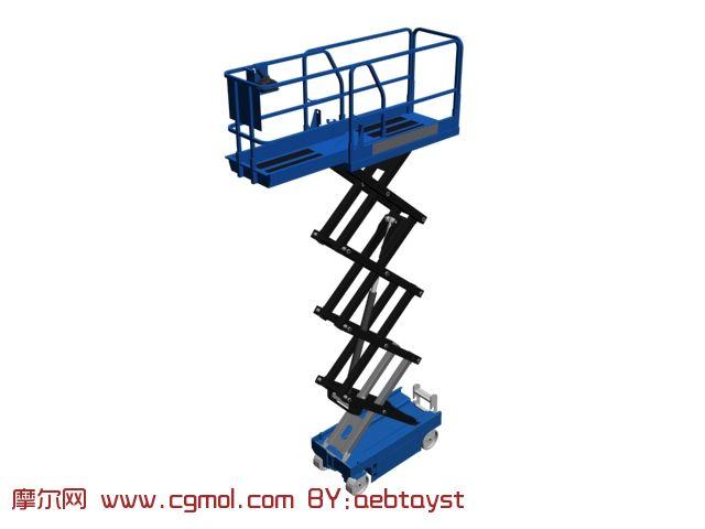 液压升降车3d模型图片