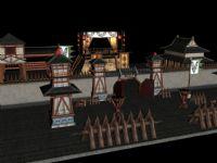 军营,军事基地,古建筑3D模型