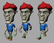 精细卡通人物模型,带动画的