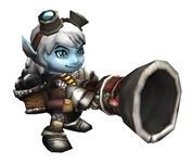 LOL英雄联盟麦林炮手Tristana,崔丝塔娜3D模型