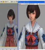 战国basara3,鹤姬3D模型