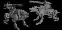 科幻机械豹3D模型